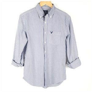 AMERICAN EAGLE OUTFITTERS Blue Classic Fit Shirt